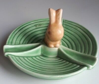 Vintage SylvaC Green Rabbit Ashtray No. 1667