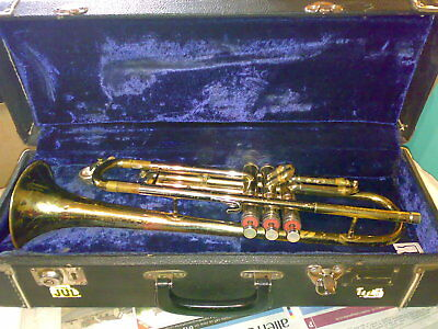 C.G. Conn 'Director' vintage brass trumpet in case with mouth pieces
