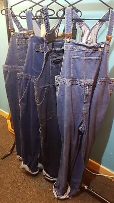 xl denim dungarees joblot retro