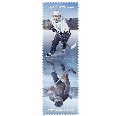 USPS New History of Hockey Full Pane of 20