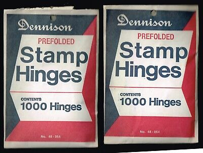 DENNISON STAMP HINGES-48-064)-1 UNOPENED & ONE OPEN PKG (2/3s FULL)