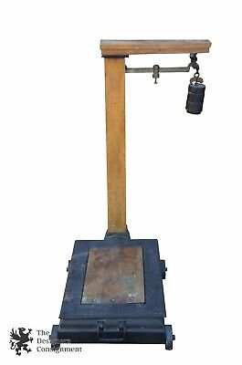 Howe Scale Co 1870 Antique Industrial General Store Platform Scale Steampunk