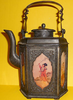 1800's RARE ASIAN ANTIQUE JAPANESE CAST IRON TEAPOT/ TEA KETTLE [local pick up]