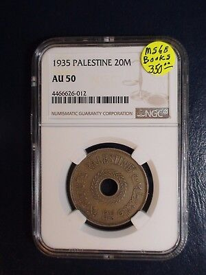 1935 Palestine Twenty Mils NGC AU50 20M Coin PRICED TO SELL NOW!