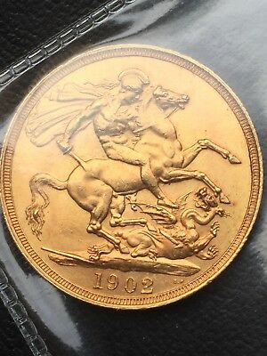 1902 double sovereign ab uncirculated
