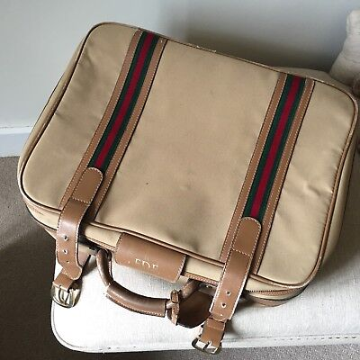 Vintage Gucci Suitcase Mid/Small Sized Case Weekend bag Carry On Travel Flight