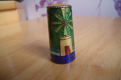 tall thimble with acrylic decoration windmill and boat