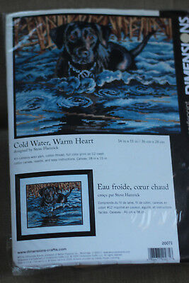 Needlepoint Kit - Cold Water, Warm Heart - Dimensions NEW Made in the USA