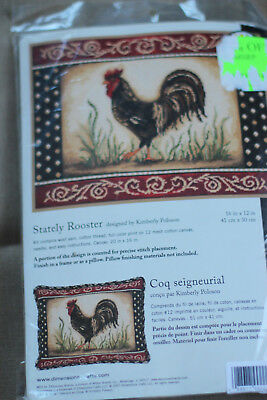 Needlepoint Kit - Stately Rooster - Dimensions NEW