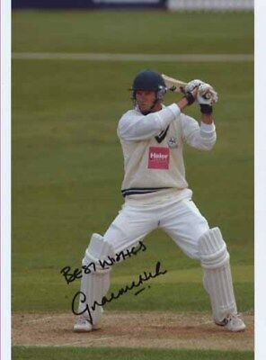 Graeme Hick - Worcester -  Signed Photo - COA (13620)