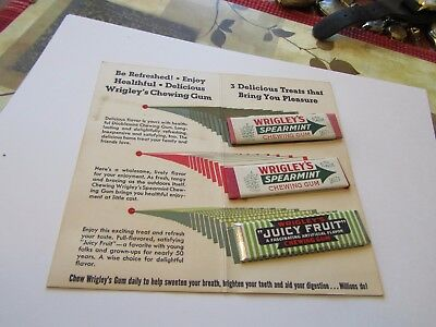 3 Vintage Sticks of Chewing Gum Wrigley's Juicy Fruit World's Fair Sampler