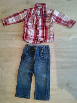 Lot garcon 12 mois BEBE 9 chemise jean comme neuf