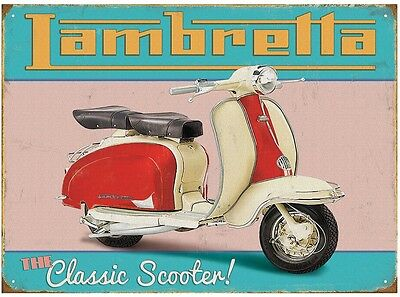 Lambretta Vintage Klassik Scooter Metal Decoration Shield