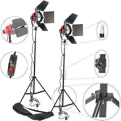 Kit 2x DynaSun DJ800 800W Professional Continuous Halogen  Light w/ Dimmer Stand