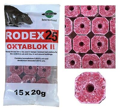 Wax Rodent Bait Killer Blocks Pack of 300g Rat Mouse Strong Poison Rat TrapMan