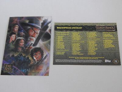 Lord of the Rings Masterpieces 2 Topps Complete base set