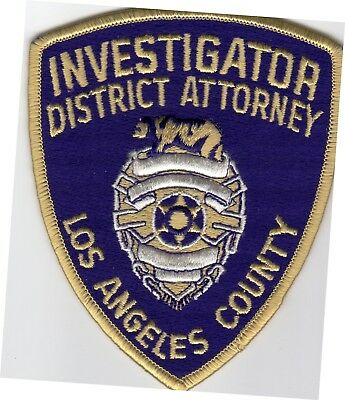 LOS ANGELES County DISTRICT ATTORNEY INVESTIGATOR patch - CALIFORNIA