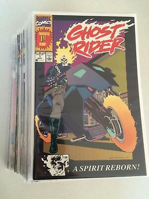 Ghost Rider #1-32 VF to NM run #1 VF+ condition 1990's Marvel comic