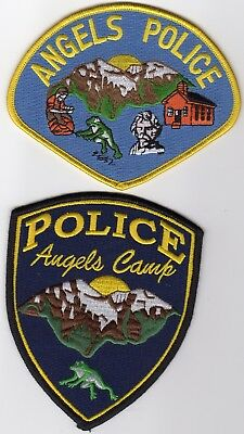 ANGELS POLICE patches - CALIFORNIA - TWO PATCH SET!