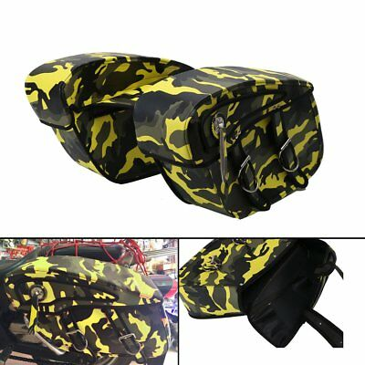 Saddle Bags Rider Motorbike Luggage Camouflage Canvas For Harley 1 Pair