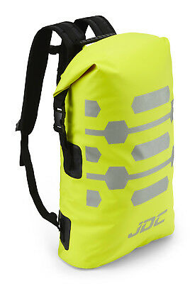 JDC Motorcycle Motorbike Rucksack 100% Waterproof Dry Bag 30L Hi-Vis - Yellow