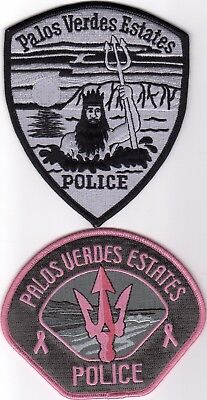 PALOS VERDES ESTATES POLICE patches - CALIFORNIA - PINK and SUBDUED