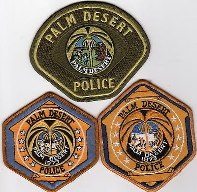 PALM DESERT POLICE patches - CALIFORNIA