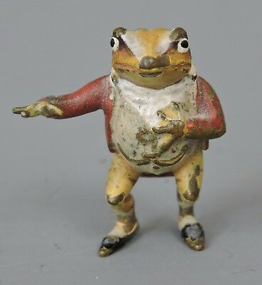 Vintage Miniature Cold Cast Bronze Mr Toad of Toad Hall The Wind in the Willows