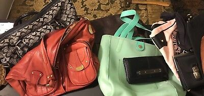 Purses /Handbag Lot Coach Lucky Brand Fossil Juicy. Need restoration