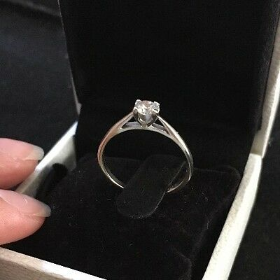 Diamond Solitaire Ring 0.23 Carat