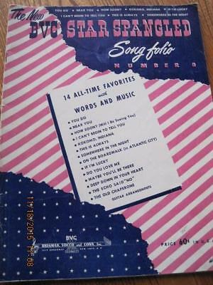 The New BVC STAR SPANGLED Song Folio Book No. 8 32 pgs 1947