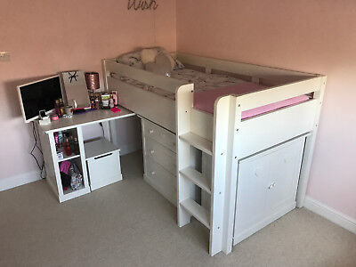 Childrens NEXT Cabin Bed Station Furniture Set with Double Wardrobe
