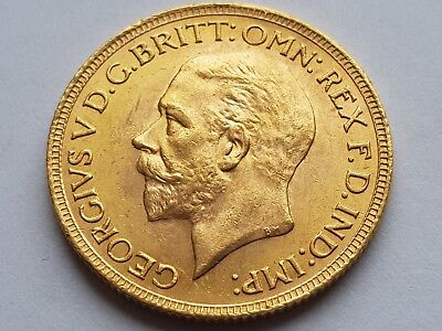 GEORGE V 1931 SA GOLD FULL SOVEREIGN COIN appears B.U