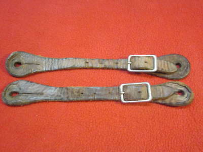Vintage Leather Spur Straps - Broke In but Not Broken!