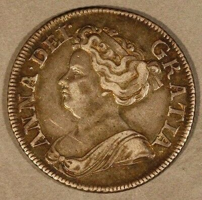1711 Great Britain Shilling Queen Anne Nice Quality     ** FREE US SHIPPING **