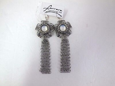 Anthony Ferrara Whiting  Davis Stainless Ring mesh  Earrings