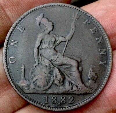 Victoria 1882 H Penny Gouby BP 1882 Ma -(R+p)