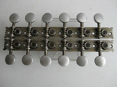 Vintage Early 1900's 12-Strings Oscar Schmidt Mandolin Tuners Set for Project