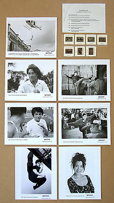 JACKIE CHAN Michelle Khan SUPERCOP Kung Fu LOT of 7 PHOTOS + 7 Color 35mm SLIDES