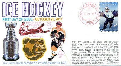"""COVERSCAPE computer generated """"Ice Hockey"""" forever set of 2 U/O fdc's"""