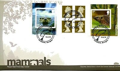2010 Mammals Great Britain Self Adhesive Retail Booklet Royal Mail Illus. Fdc