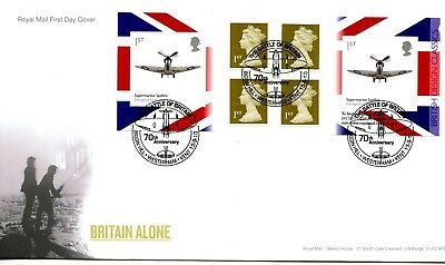 2010 Designs/spitfire Great Britain Self Adhesive Retail Booklet Royal Mail Fdc