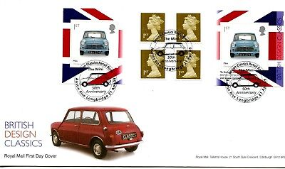 2009 Designs/mini Great Britain Self Adhesive Retail Booklet Royal Mail Fdc Vgc