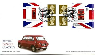 2009 Designs Great Britain Self Adhesive Retail Booklet Royal Mail Illus Fdc Vgc