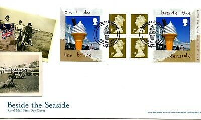 2008 Seaside Great Britain Self Adhesive Retail Booklet Royal Mail Illus Fdc Vgc