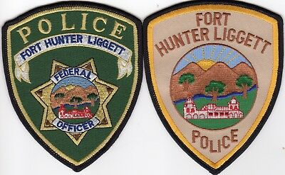 FORT HUNTER LIGGETT POLICE patches CALIFORNIA