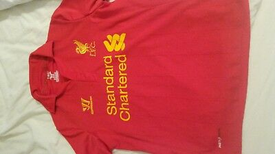 LIVERPOOL FC LFC Shirt Age Approx 8-9 134cm