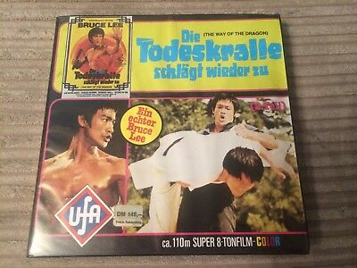 Super 8mm Way Of The Dragon Bruce Lee Colour Sound 2nd Reel 400ft