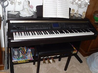 YAMAHA Clavinova CVP401 Digital Electronic Piano with Stool and supporting books