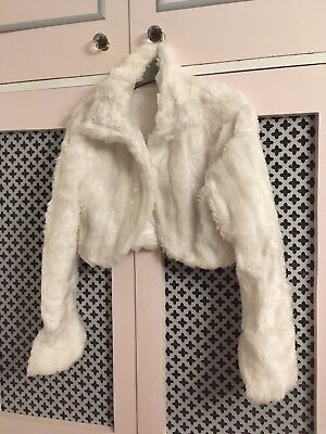 Ivory Fake Fur Bolero XL